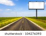 billboard on country road | Shutterstock . vector #104276393