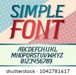 vector modern uppercase font on ...   Shutterstock .eps vector #1042781617