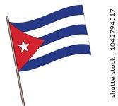 flag of cuba   cuba flag waving ... | Shutterstock .eps vector #1042794517