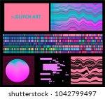 glitch  low fidelity  broken... | Shutterstock .eps vector #1042799497
