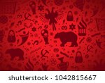 russian pattern wallpaper... | Shutterstock .eps vector #1042815667