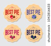 best pie logo. pie labels. pie... | Shutterstock .eps vector #1042816633