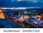 scenic top view of summer... | Shutterstock . vector #1042817323