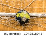 the ball in the gates for... | Shutterstock . vector #1042818043