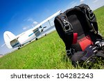 Skydiving Parachutes Ready To...