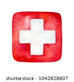 illustrated medical protection... | Shutterstock . vector #1042828807