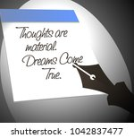 thoughts are material. dreams... | Shutterstock .eps vector #1042837477