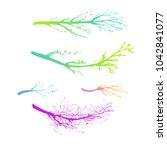 winter and spring branches... | Shutterstock .eps vector #1042841077