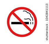 no smoking sign  vector... | Shutterstock .eps vector #1042841113