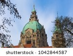 Stock photo new town hall hannover germany 1042844587