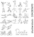 sport doodle | Shutterstock .eps vector #104285693