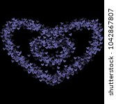 heart violet which consists of... | Shutterstock .eps vector #1042867807