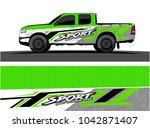 truck graphic background kit... | Shutterstock .eps vector #1042871407