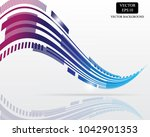 technology tail curve vector...   Shutterstock .eps vector #1042901353