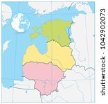 political map of the baltic... | Shutterstock .eps vector #1042902073