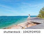 outdoor summer portrait of... | Shutterstock . vector #1042924933