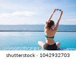 outdoor summer portrait of... | Shutterstock . vector #1042932703