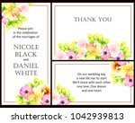 romantic invitation. wedding ... | Shutterstock .eps vector #1042939813