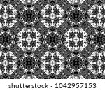 ornament with elements of black ...   Shutterstock . vector #1042957153
