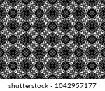 ornament with elements of black ...   Shutterstock . vector #1042957177