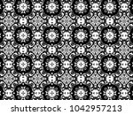 ornament with elements of black ...   Shutterstock . vector #1042957213