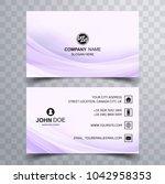 modern wave buisness card... | Shutterstock .eps vector #1042958353