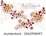 modern floral decorative... | Shutterstock .eps vector #1042958497