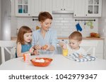 children together with their... | Shutterstock . vector #1042979347