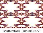 symmetrical geometrical... | Shutterstock . vector #1043013277