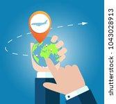 online app for tickets order....   Shutterstock . vector #1043028913