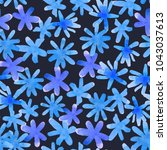 seamless floral pattern with... | Shutterstock . vector #1043037613