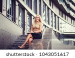 young smiling business woman...   Shutterstock . vector #1043051617