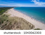 italy  the beach of the... | Shutterstock . vector #1043062303