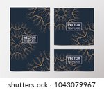 vector banners of floral... | Shutterstock .eps vector #1043079967