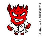 red evil devil vector | Shutterstock .eps vector #1043084953