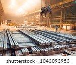 warehouse metal blank.... | Shutterstock . vector #1043093953