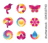 set of colorful icons for... | Shutterstock .eps vector #104310743