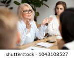 attractive aged businesswoman ... | Shutterstock . vector #1043108527
