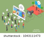 influencer marketing flat... | Shutterstock .eps vector #1043111473