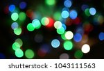out of focus multicolored... | Shutterstock . vector #1043111563