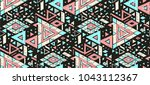geometric folklore ornament.... | Shutterstock .eps vector #1043112367