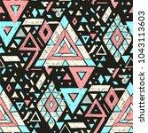 geometric folklore ornament.... | Shutterstock .eps vector #1043113603