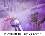 business investment and...   Shutterstock . vector #1043117047