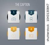icon line job set of copybook ... | Shutterstock .eps vector #1043130847