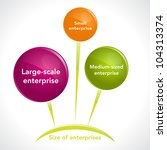 Size of enterprises diagram. Vector (eps10) version also available in gallery - stock photo