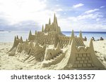 Sand Castle On The Picture...