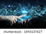 businessman on blurred... | Shutterstock . vector #1043137627