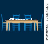 vector generic greek tavern...   Shutterstock .eps vector #1043142373