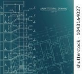 architectural blueprint.... | Shutterstock .eps vector #1043164027