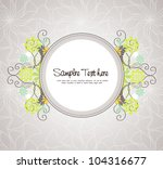 elegant wedding invitation card | Shutterstock .eps vector #104316677
